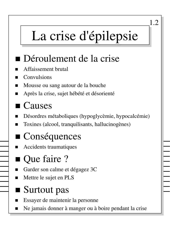 la crise d pilepsie l.