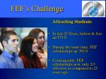 fef s challenge