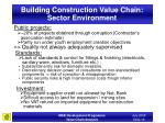 building construction value chain sector environment