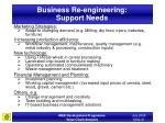 business re engineering support needs