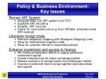 policy business environment key issues