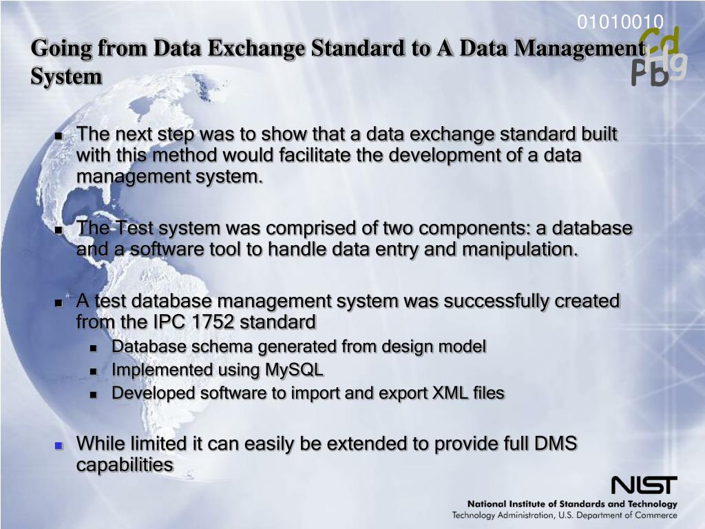 Going from Data Exchange Standard to A Data Management System