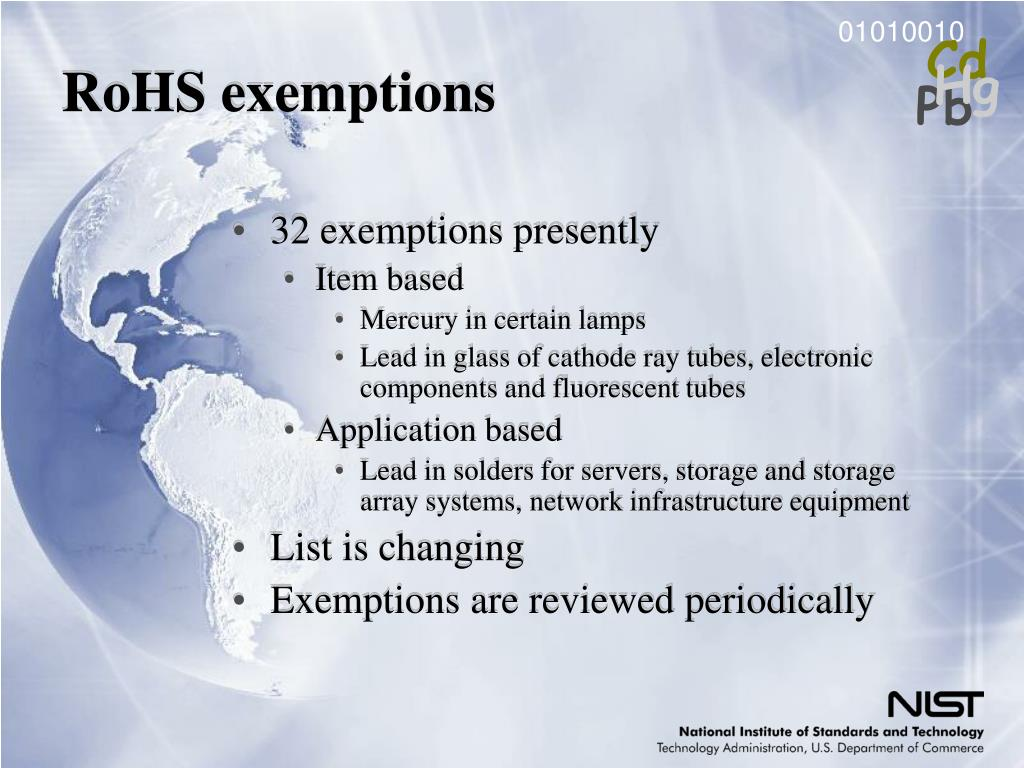 RoHS exemptions
