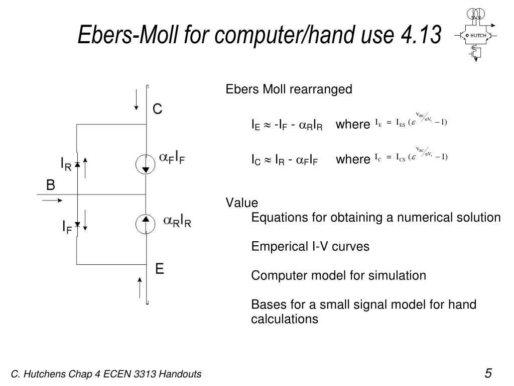 Ebers-Moll for computer/hand use 4.13