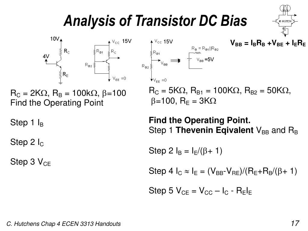 Analysis of Transistor DC Bias