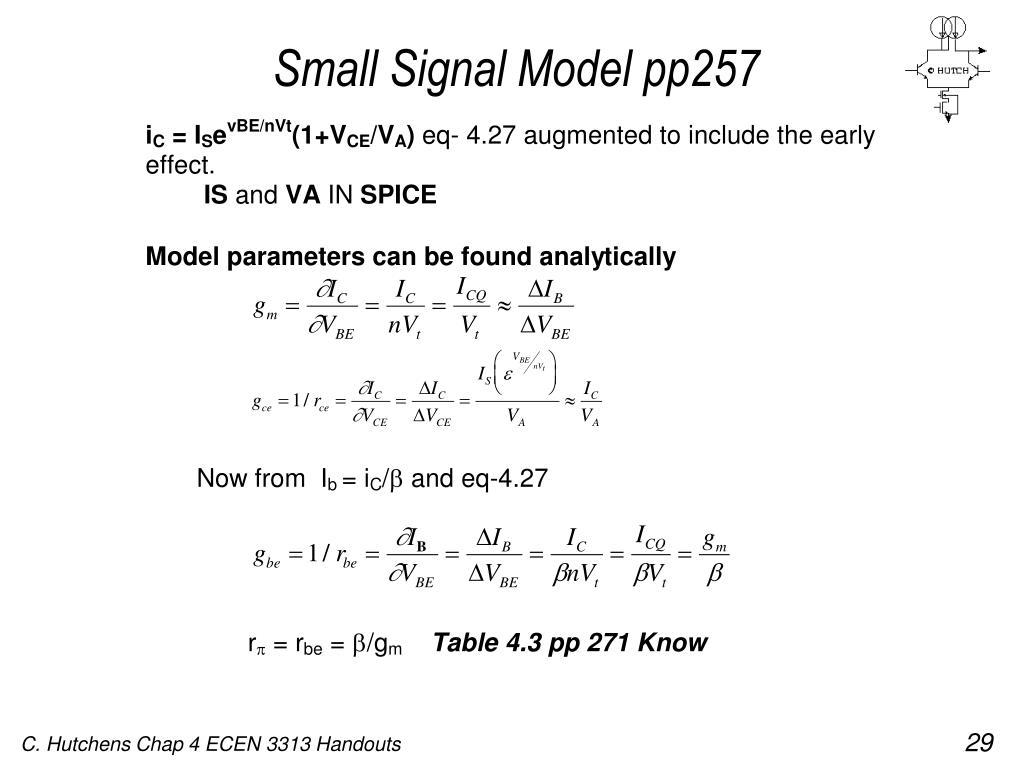 Small Signal Model pp257