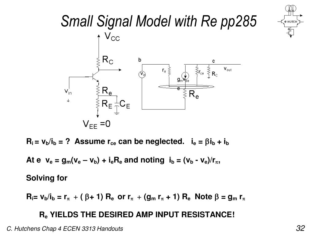 Small Signal Model with Re pp285