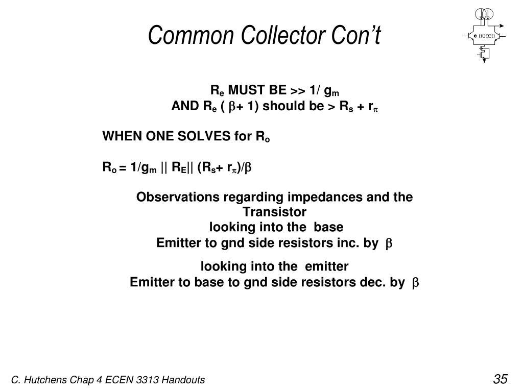 Common Collector Con't