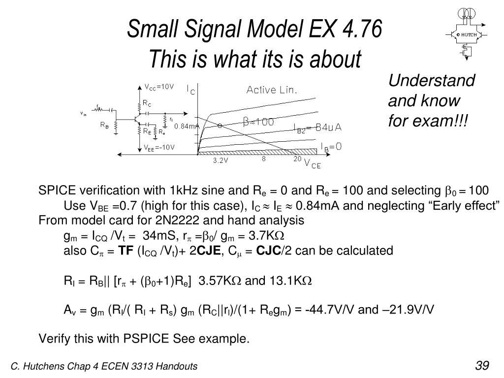 Small Signal Model EX 4.76