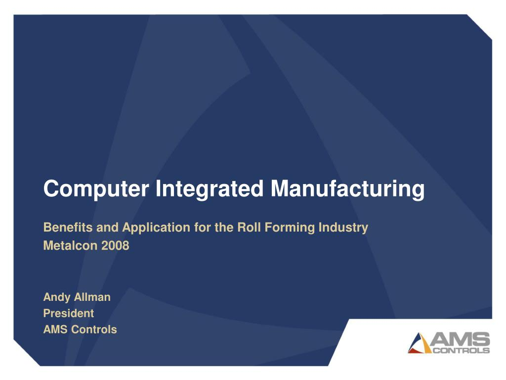 computer integrated manufacturing l.