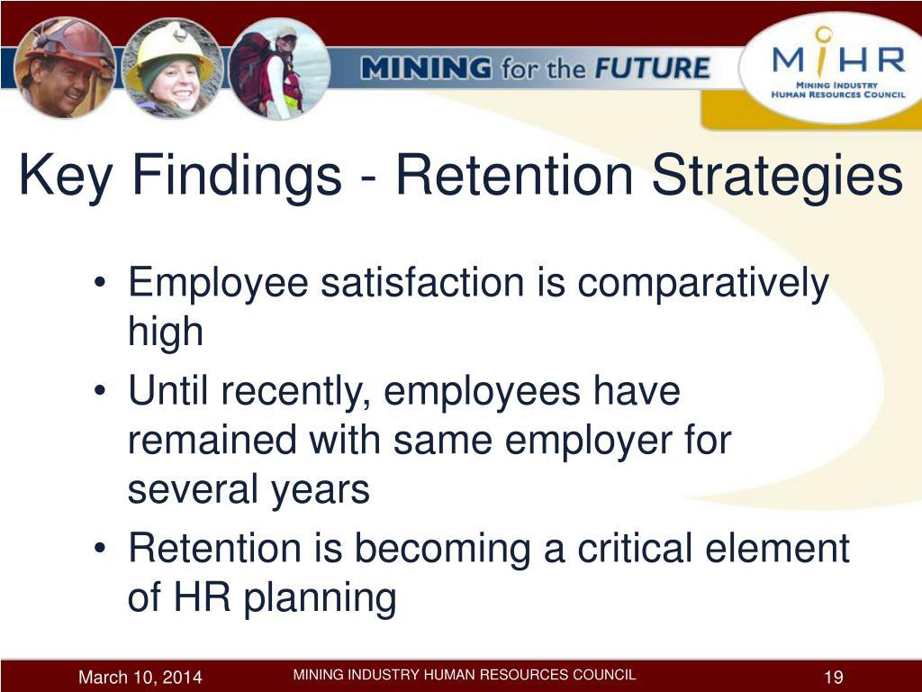 Key Findings - Retention Strategies