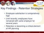 key findings retention strategies