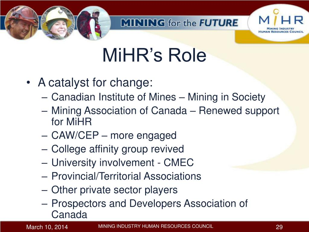 MiHR's Role