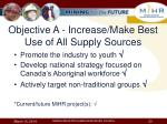 objective a increase make best use of all supply sources