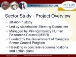 sector study project overview