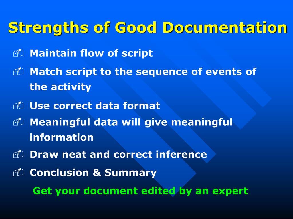 Strengths of Good Documentation