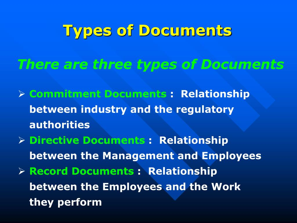 Types of Documents