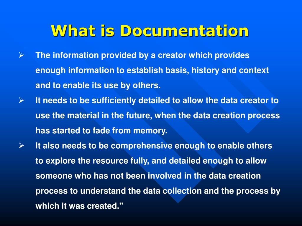 What is Documentation