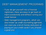 debt management programs