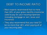 debt to income ratio20