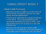 using credit wisely12