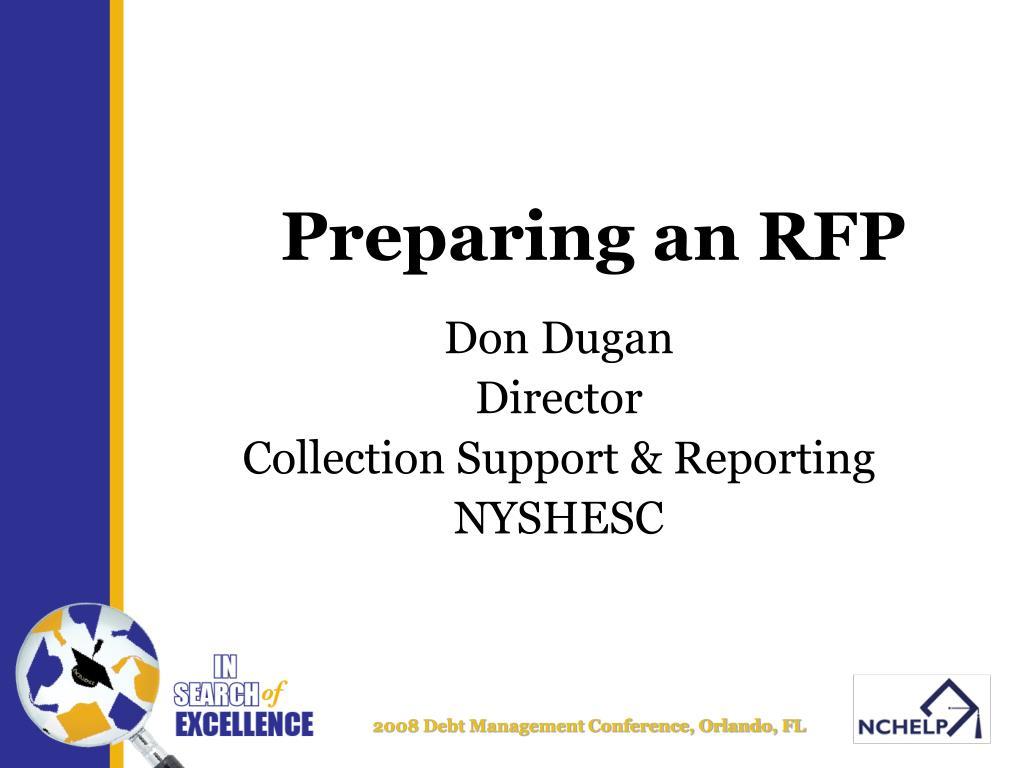 preparing an rfp l.