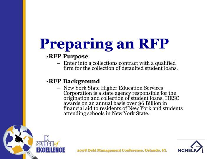 Preparing an rfp2