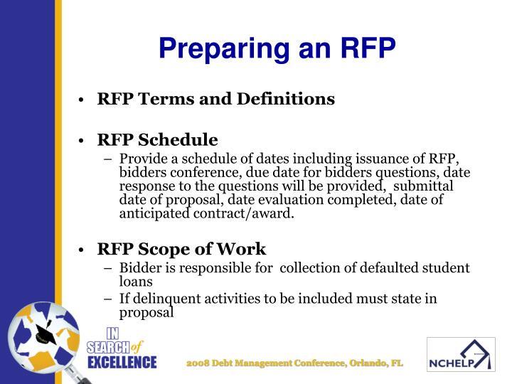 Preparing an rfp3