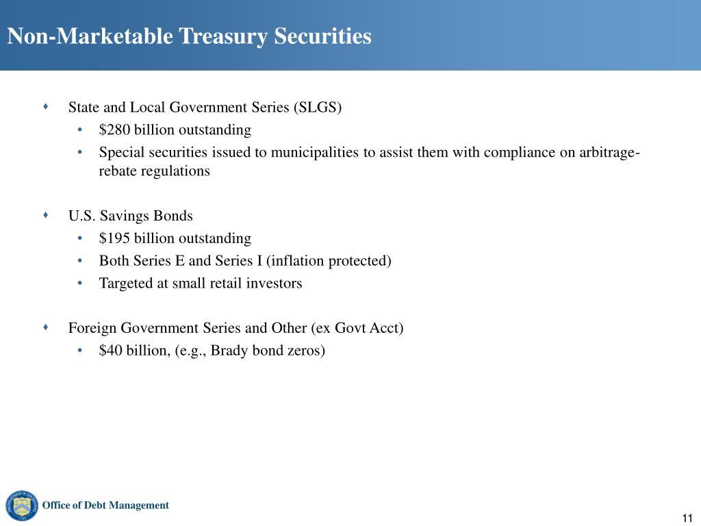 Non-Marketable Treasury Securities