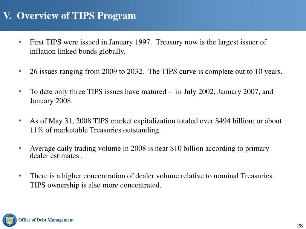 V.  Overview of TIPS Program