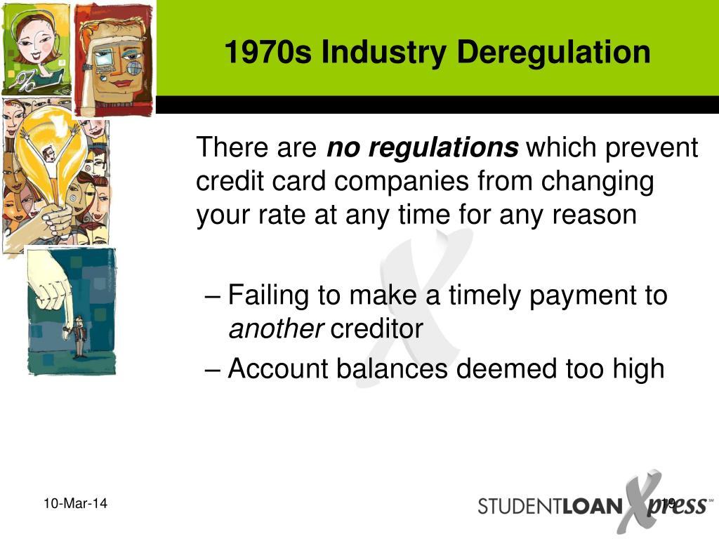 1970s Industry Deregulation