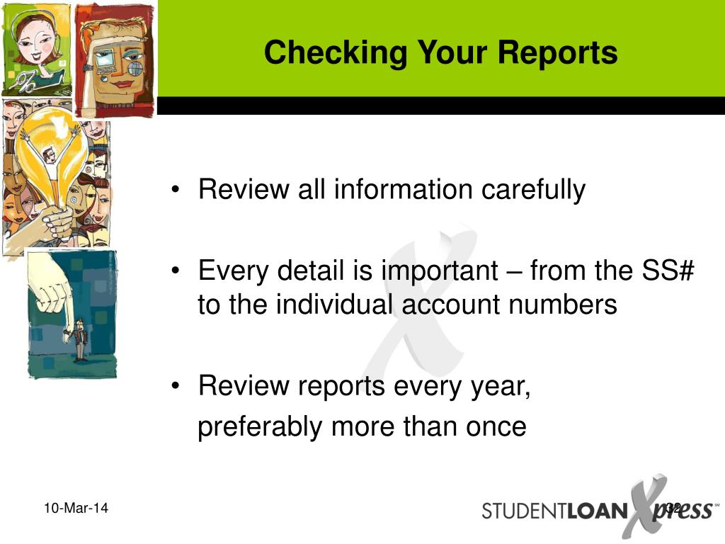 Checking Your Reports