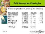 debt management strategies