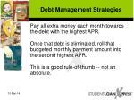 debt management strategies41