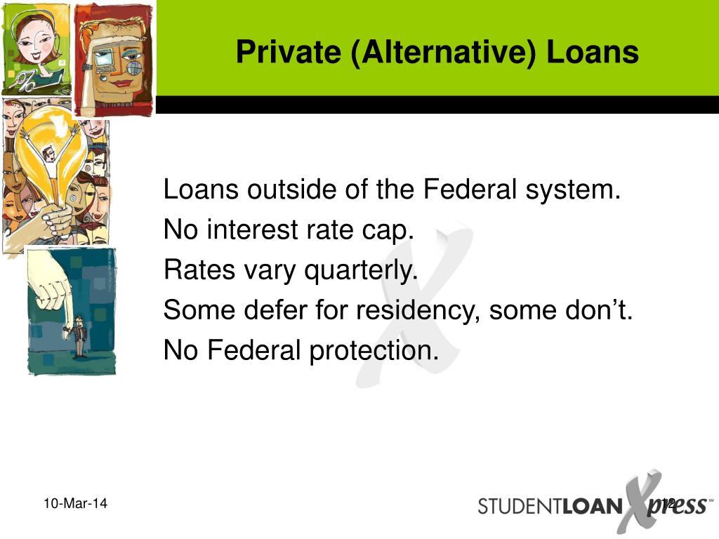 Private (Alternative) Loans