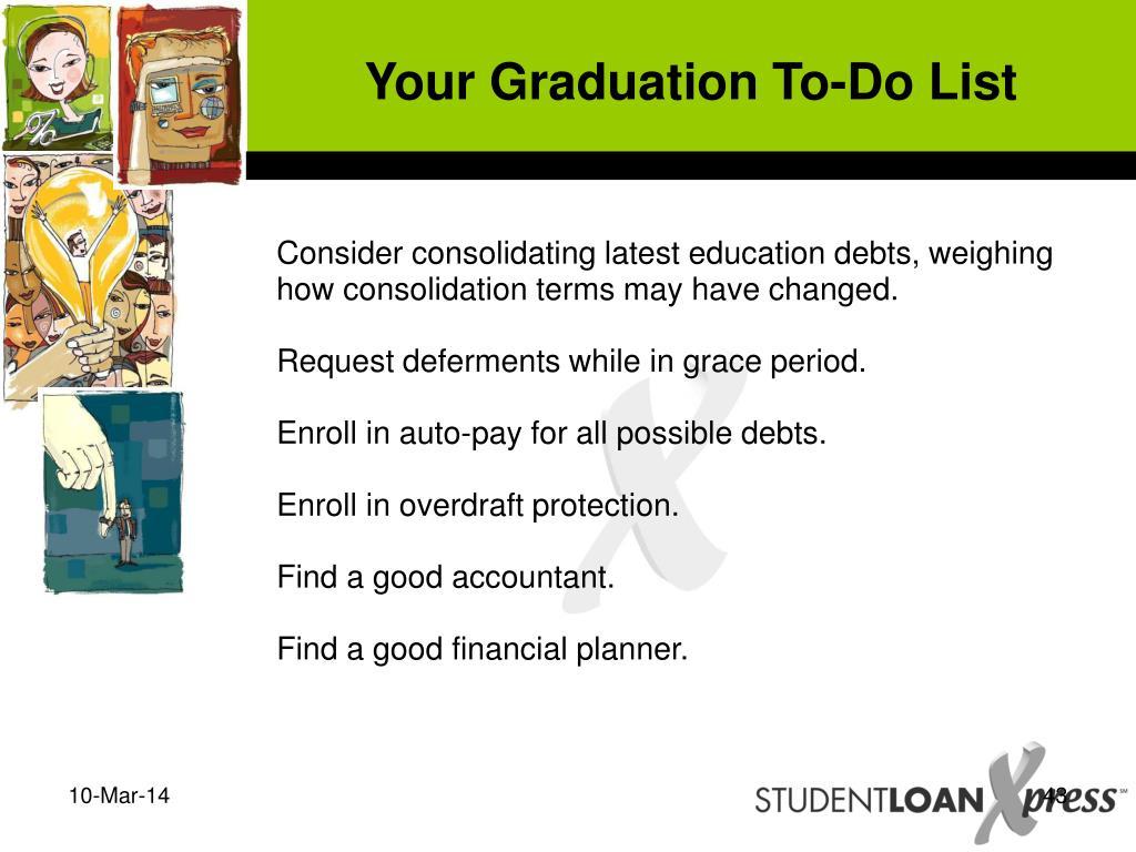 Your Graduation To-Do List