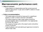 macroeconomic performance cont7