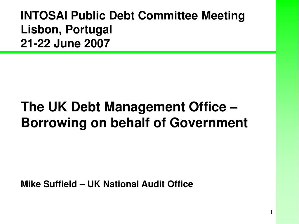 the uk debt management office borrowing on behalf of government l.