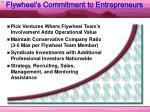 flywheel s commitment to entrepreneurs