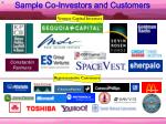 sample co investors and customers