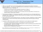 section c 1 i transmission debt service reassignment