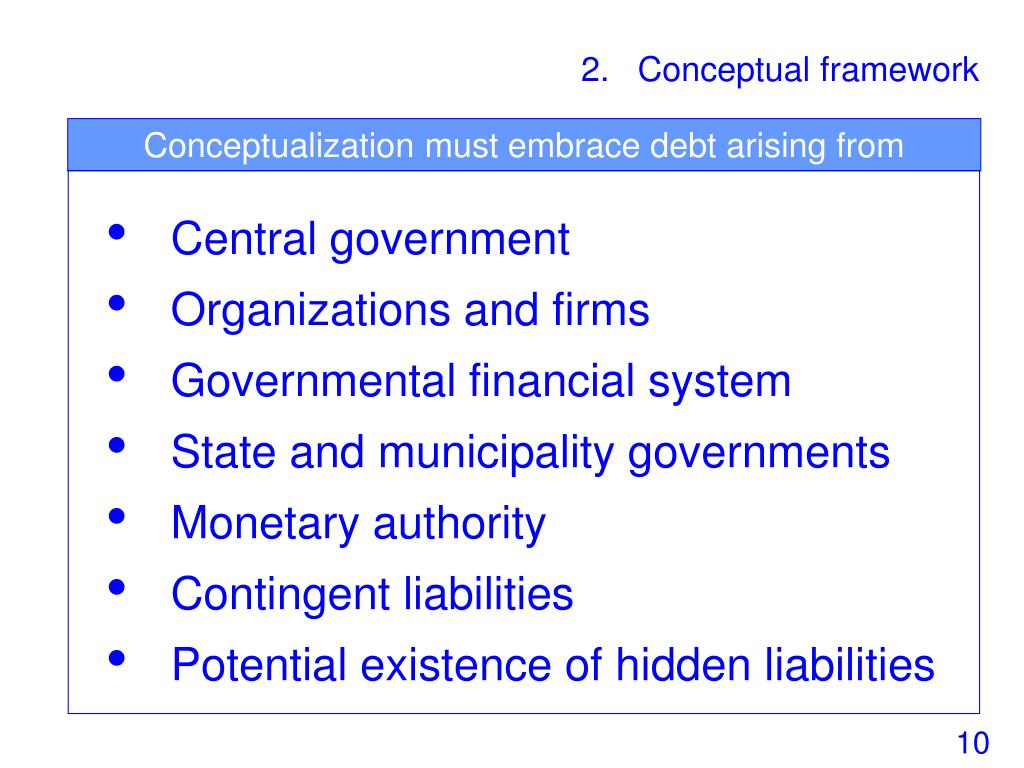 Conceptualization must embrace debt arising from