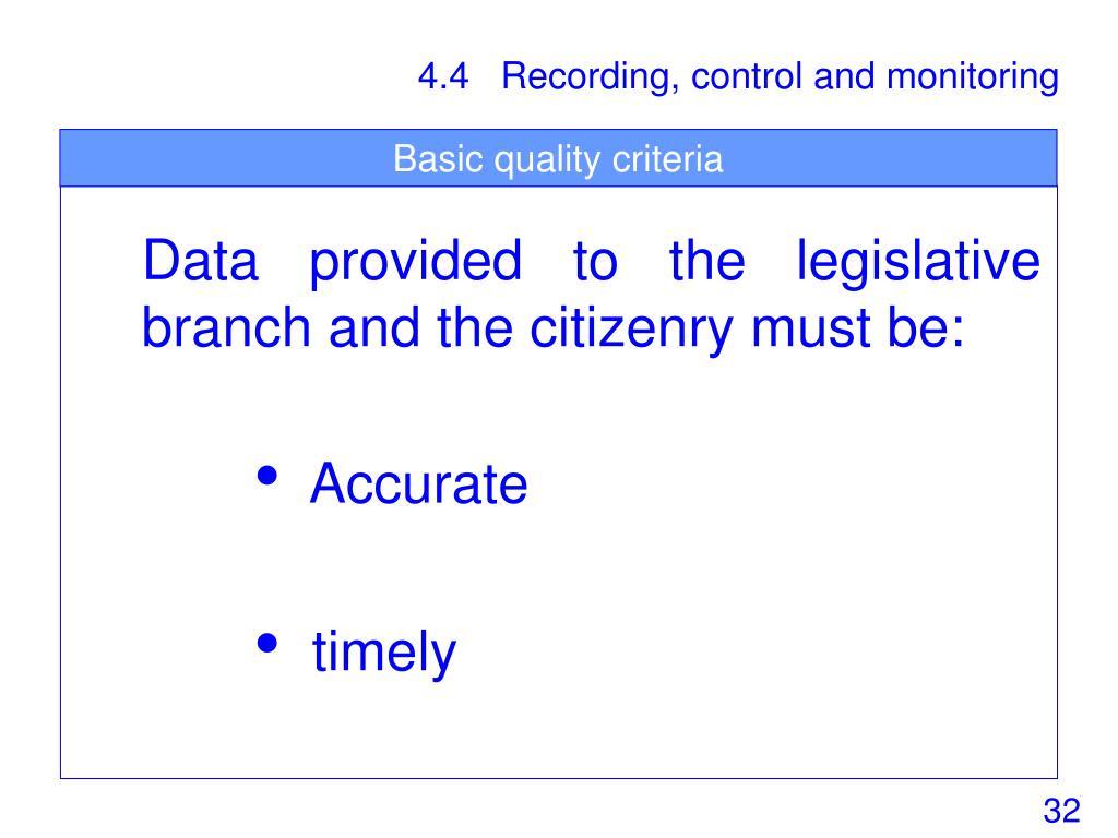 Basic quality criteria