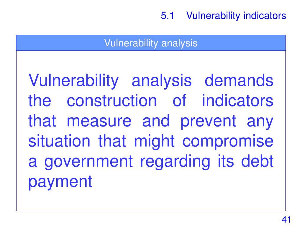 Vulnerability analysis