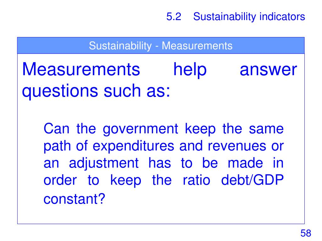 Sustainability - Measurements