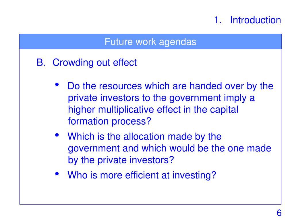 Future work agendas