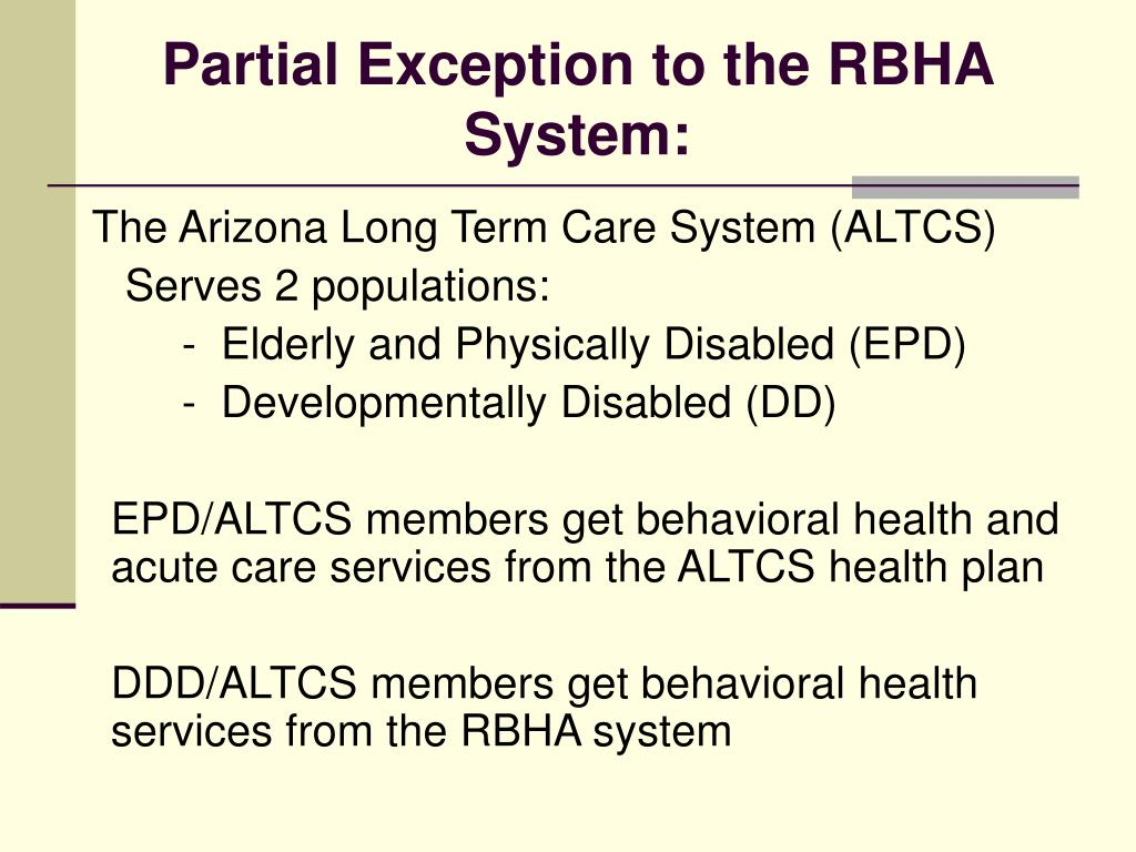 Partial Exception to the RBHA System: