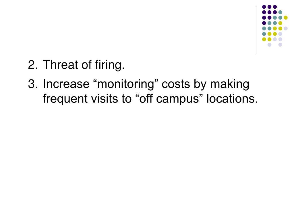 2.Threat of firing.