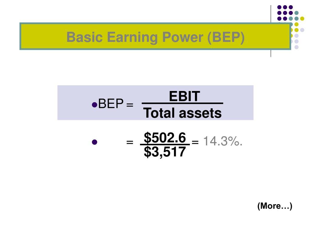 Basic Earning Power (BEP)