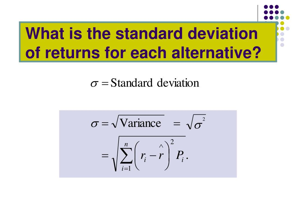 What is the standard deviation